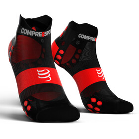 Compressport Pro Racing V3.0 UItralight Run Low Chaussettes, black/red